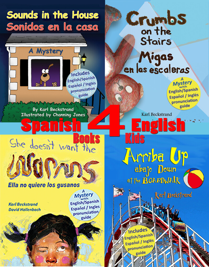4 Spanish-English Books for Kids: 4 libros bili...