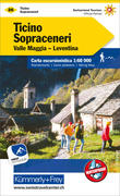 KuF Schweiz Wanderkarte 26 Tessin Sopraceneri Valle Maggia- Leventina 1 : 60 000