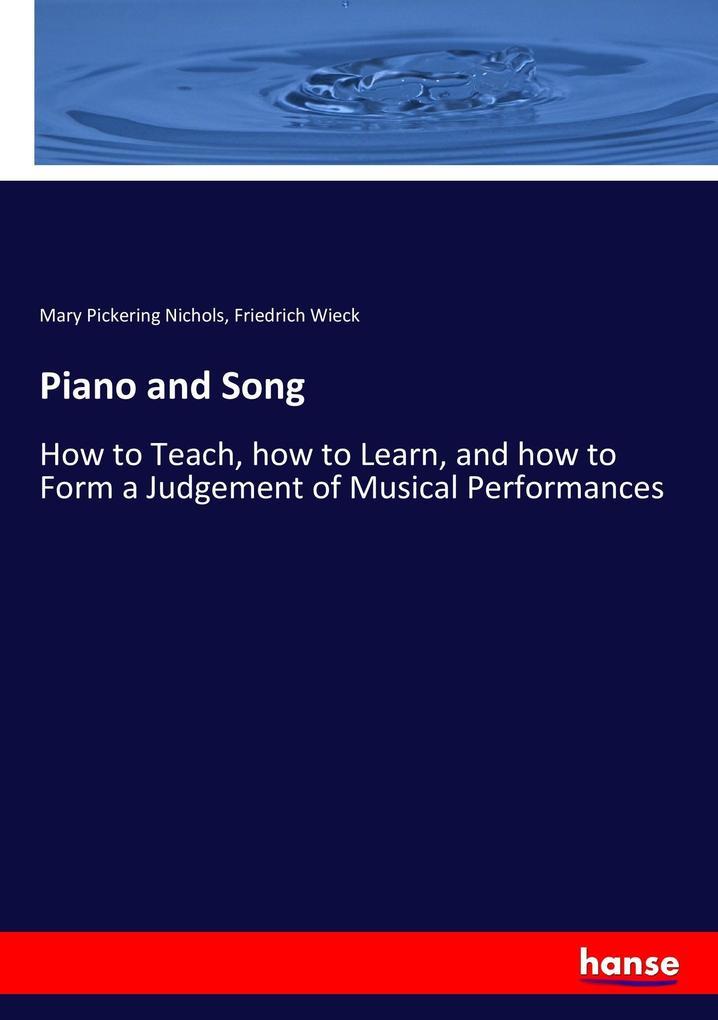 Piano and Song als Buch von Mary Pickering Nich...