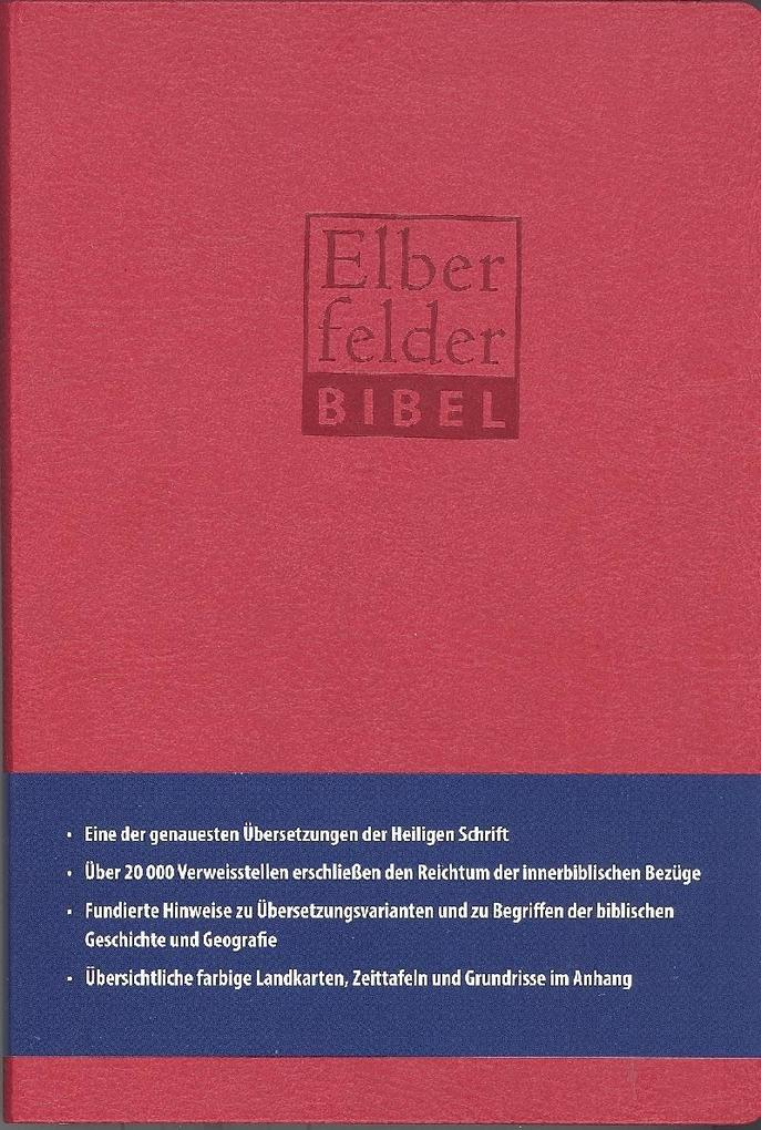 Elberfelder Bibel - Standardausgabe, ital. Kunstleder rot als Buch