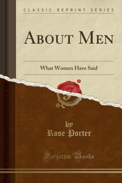 About Men als Taschenbuch von Rose Porter