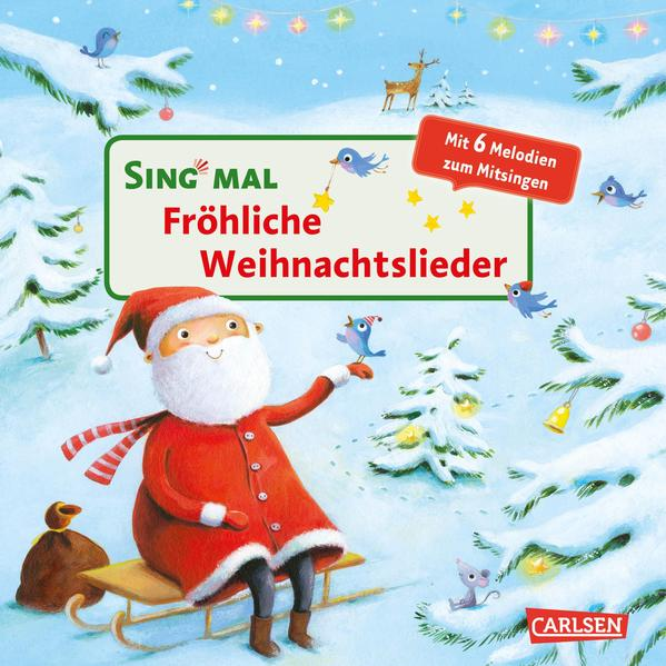 Fröhliche Weihnachtslieder als Buch