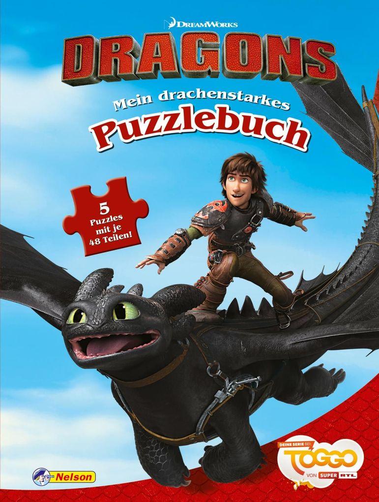 """DreamWorks Dragons """"Auf zu neuen Ufern"""": Mein drachenstarkes Puzzlebuch als Buch"""