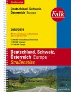 Falk Straßenatlas Deutschland, Schweiz, Österreich, Europa 2018/2019 1 : 300 000