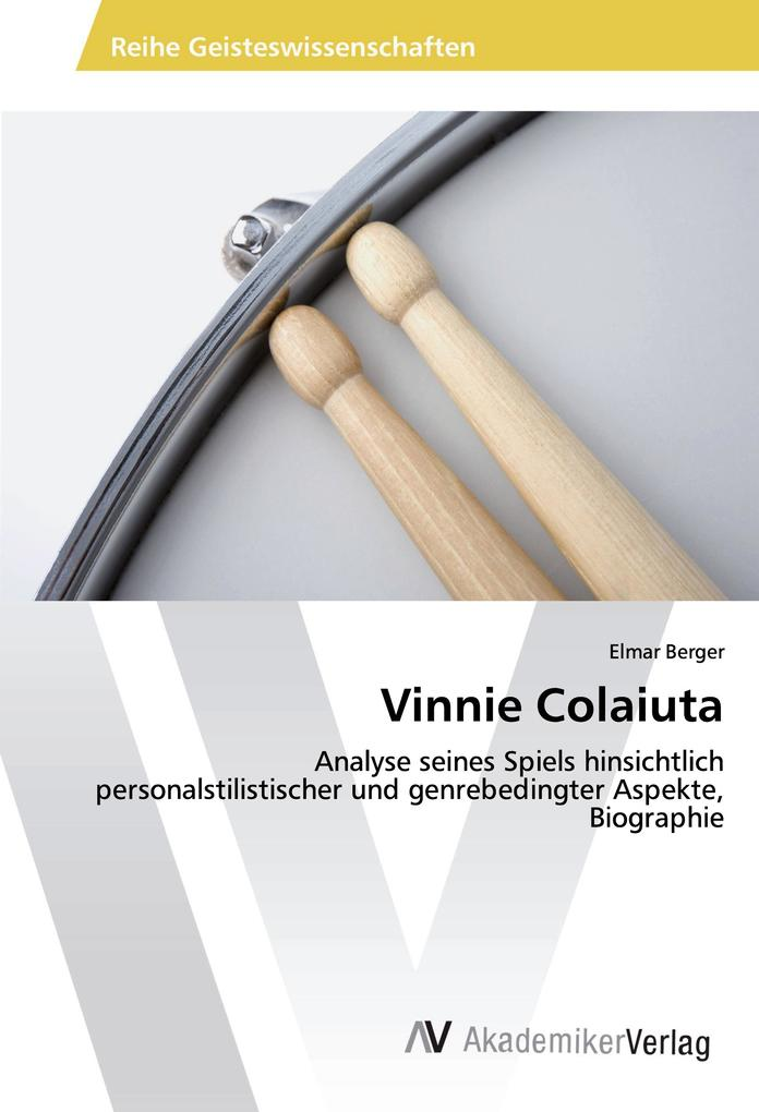 Vinnie Colaiuta als Buch von Elmar Berger