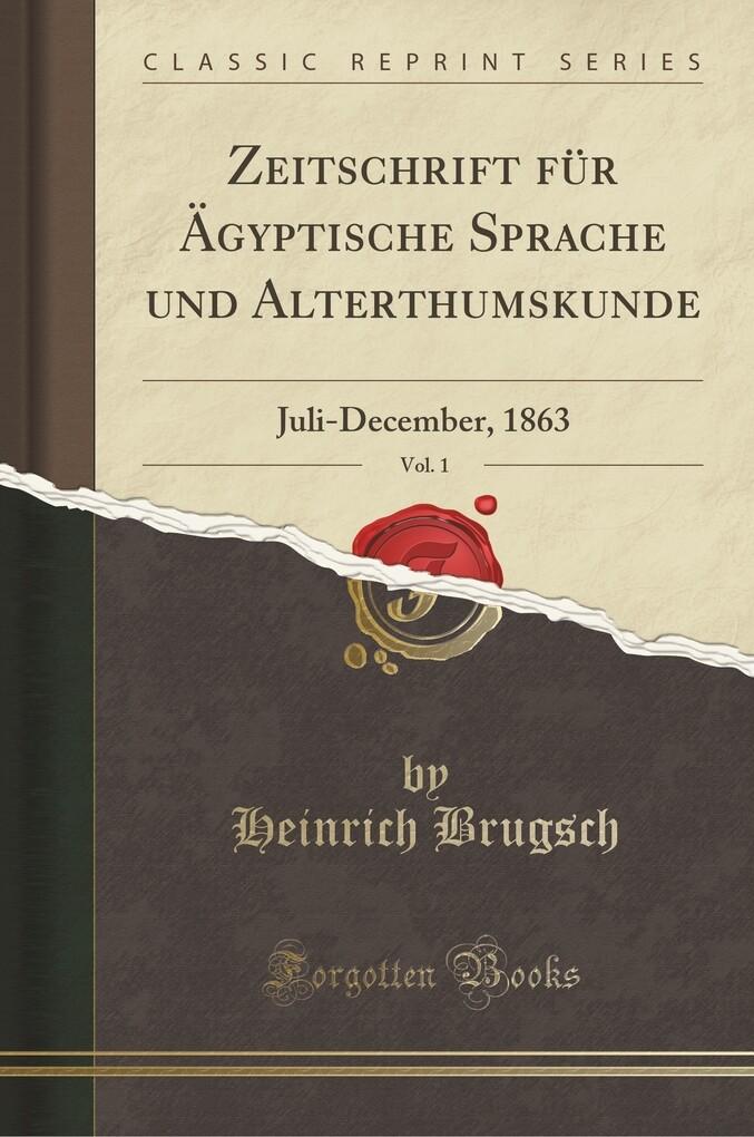 Zeitschrift f´r ´yptische Sprache und Alterthum...