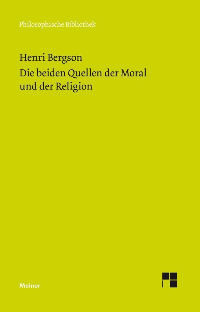 Die beiden Quellen der Moral und der Religion als Buch