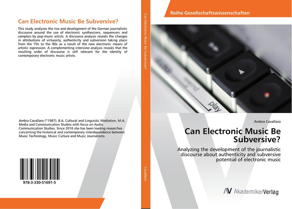 Can Electronic Music Be Subversive? als Buch vo...