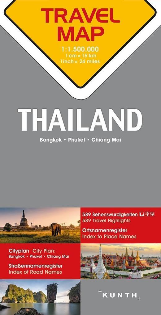 Reisekarte Thailand 1:1.500.000 als Buch von