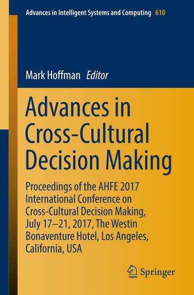Advances in Cross-Cultural Decision Making als ...