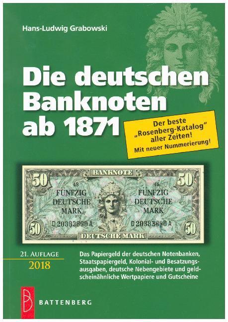 Die deutschen Banknoten ab 1871 als Buch