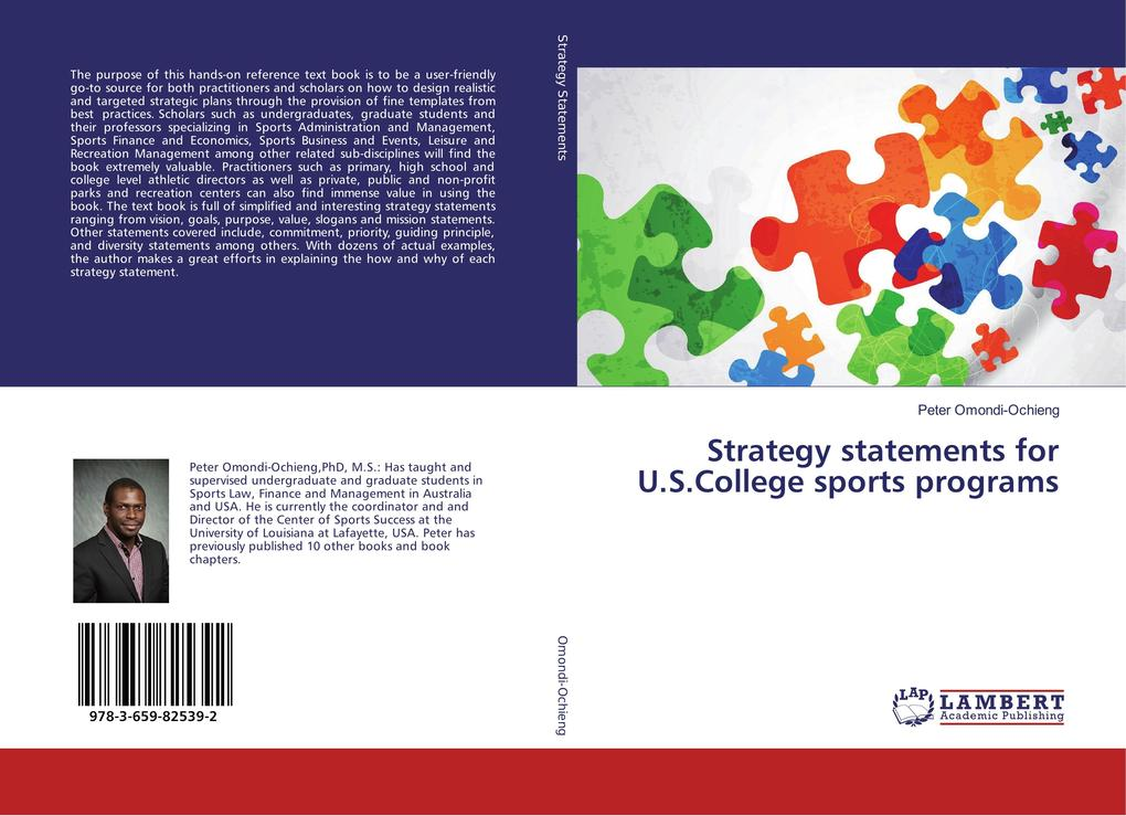 Strategy statements for U.S.College sports prog...