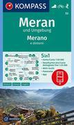 Meran und Umgebung /Merano e dintorni 1:50 000