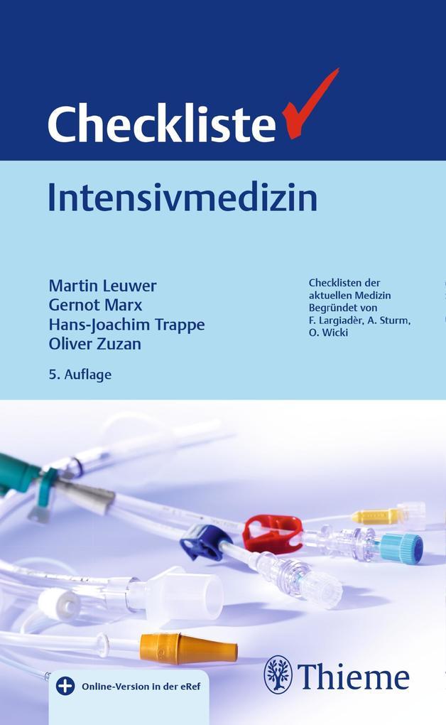 Checkliste Intensivmedizin als Buch von