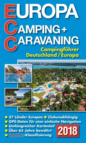 ECC-Europa Camping- + Caravaning-Führer 2018 als Buch