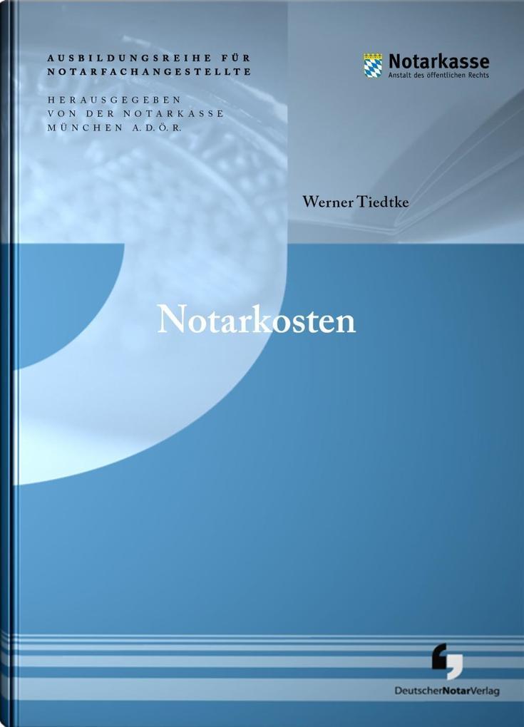 Notarkosten als Buch