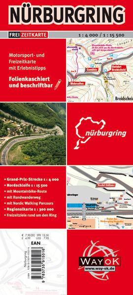 Nürburgring Freizeitkarte als Buch von