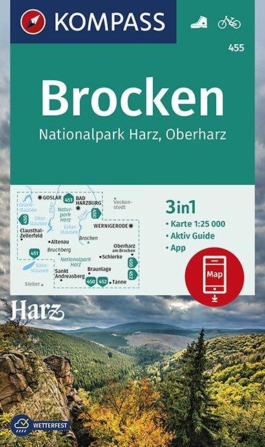 Brocken, Nationalpark Harz, Oberharz 1:25 000 a...