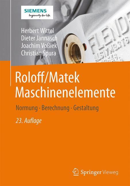 Roloff/Matek Maschinenelemente als Buch