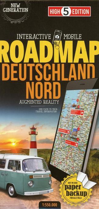 Strassenkarte Deutschland Nord 1:550 000 als Bu...