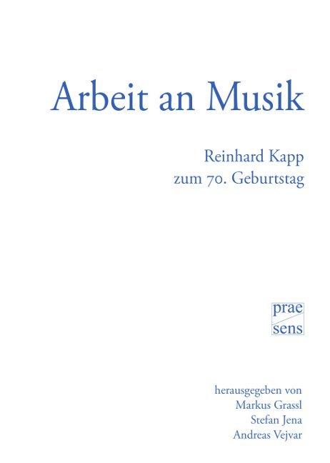 Arbeit an Musik als Buch von
