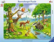Ravensburger 061389 - Heimische Waldtiere, Rahmenpuzzle, 30 Teile