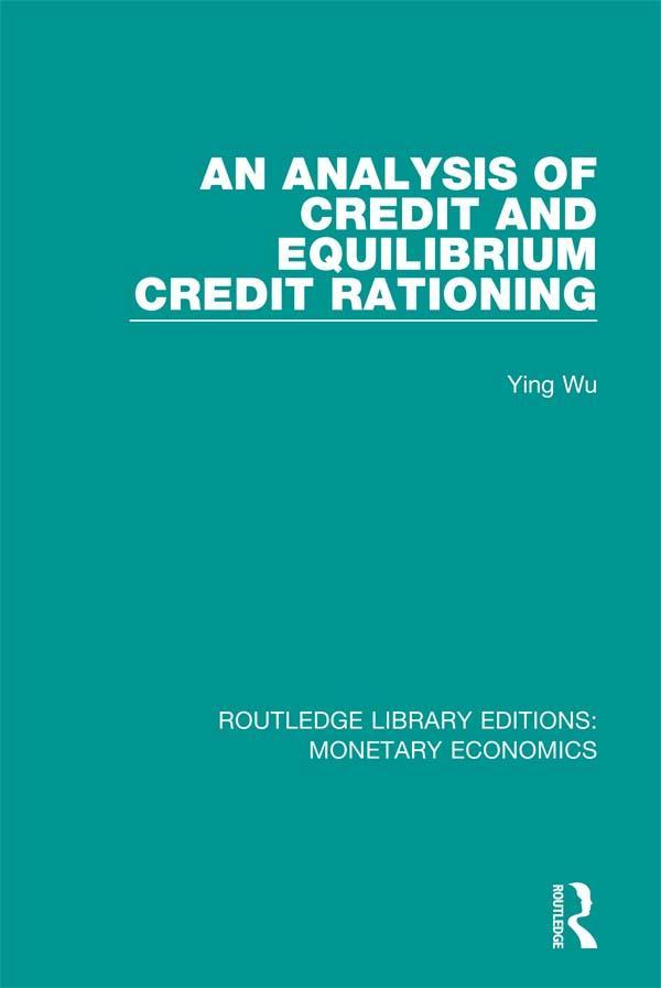 Analysis of Credit and Equilibrium Credit Ratio...