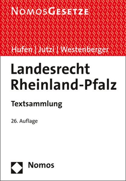 Landesrecht Rheinland-Pfalz als Buch von