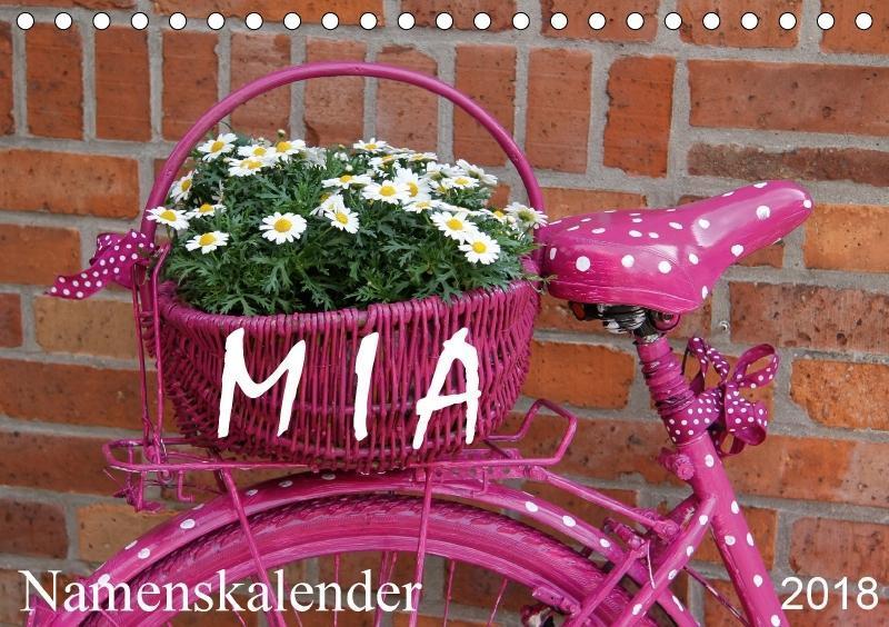 MIA - Namenskalender (Tischkalender 2018 DIN A5...