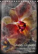 Shabby - Orchidee, Interpretation auf alten Fotoplatten (Tischkalender 2018 DIN A5 hoch) Dieser erfolgreiche Kalender wurde dieses Jahr mit gleichen Bildern und aktualisiertem Kalendarium wiederveröffentlicht.