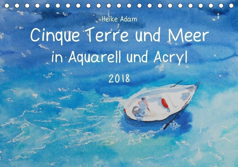 Cinque Terre und Meer in Aquarell und Acryl (Ti...