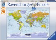 Ravensburger 147557 - Weltkarte, politisch - The World - Puzzle, 500 Teile