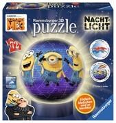 Ravensburger 118175 - Nachtlicht - Despicable Me 3 - 3D Puzzle-Ball, 72 Teile