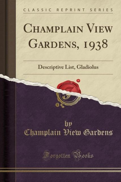 Champlain View Gardens, 1938 als Taschenbuch vo...