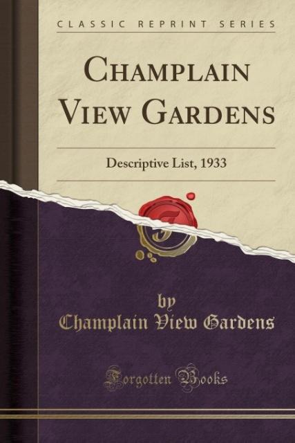 Champlain View Gardens als Taschenbuch von Cham...