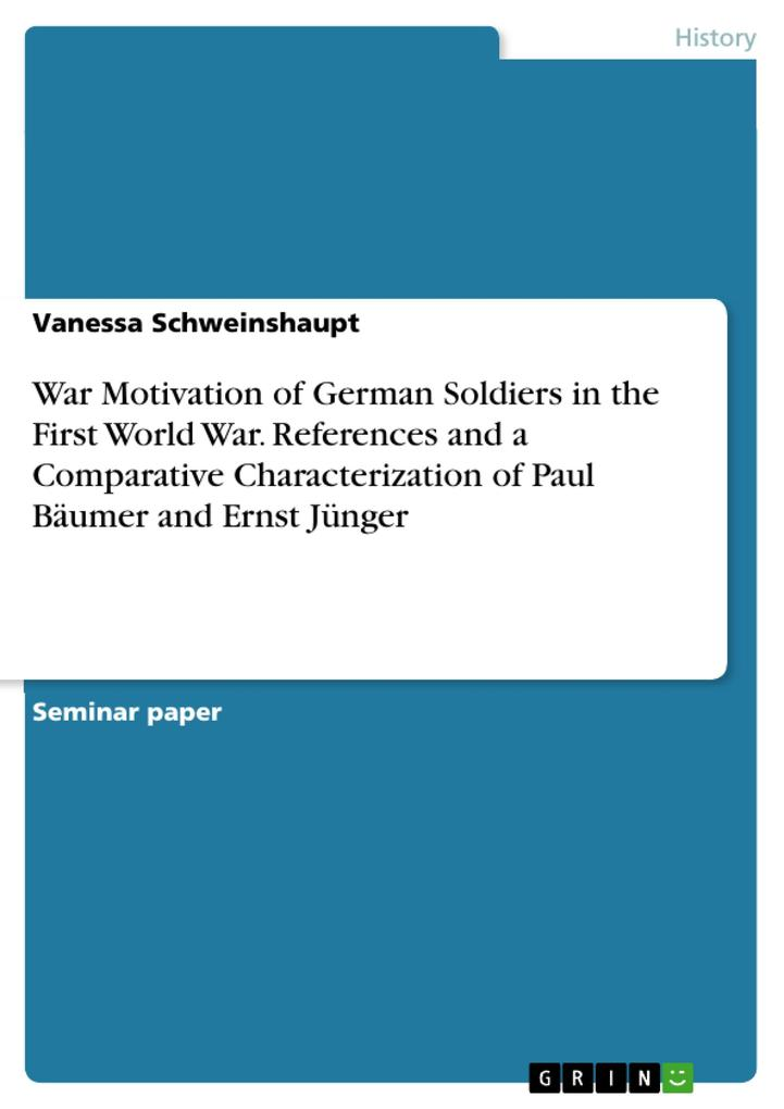 War Motivation of German Soldiers in the First ...