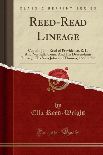 Reed-Read Lineage als Taschenbuch von Ella Reed...