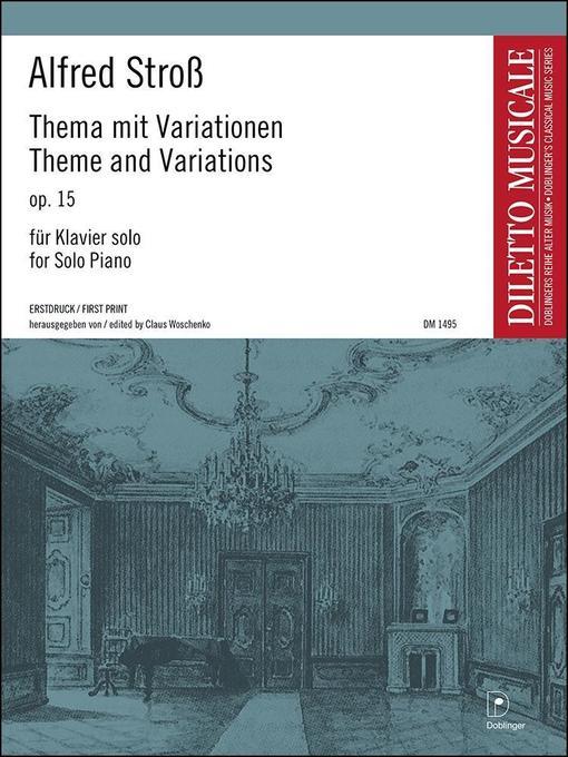 Thema mit Variationen a-Moll op. 15 als Buch vo...