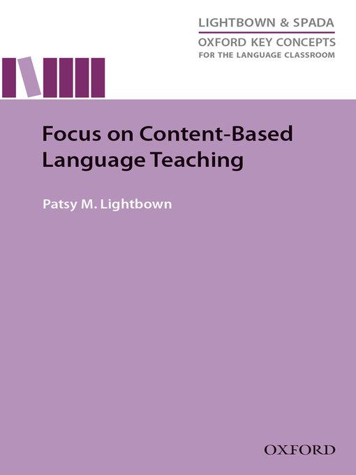 Focus on Content-Based Language Teaching als eB...