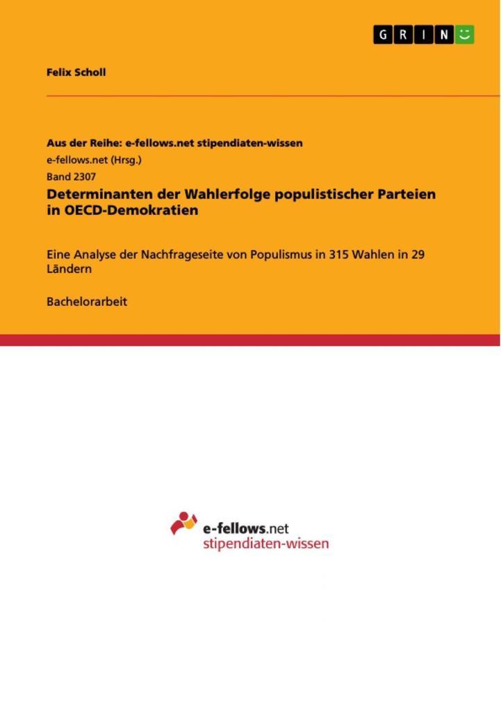 Determinanten der Wahlerfolge populistischer Pa...