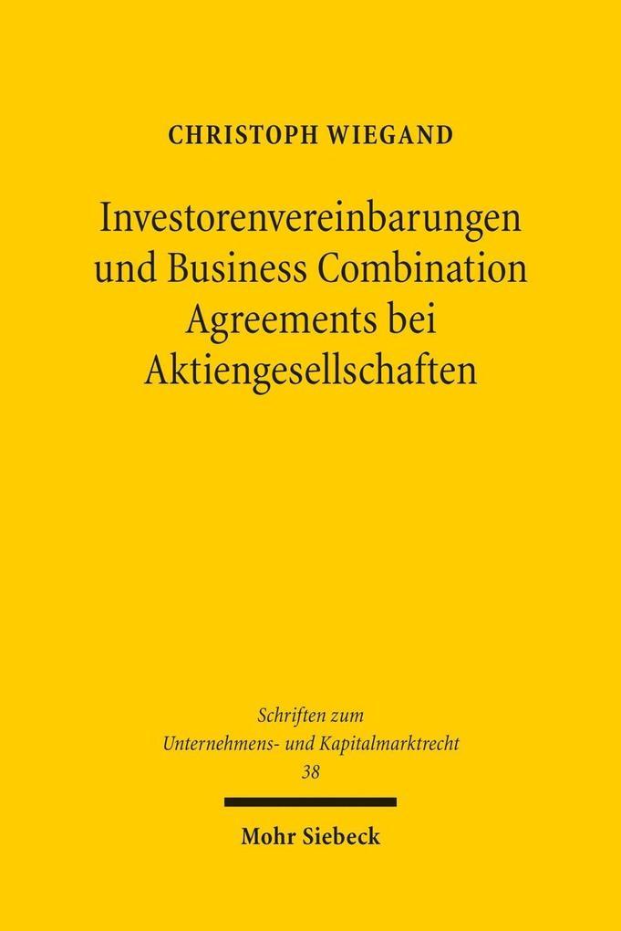 Investorenvereinbarungen und Business Combinati...