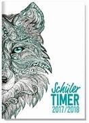 """Schulstuff Schülertimer A5 2017/2018 """"Wolf"""""""