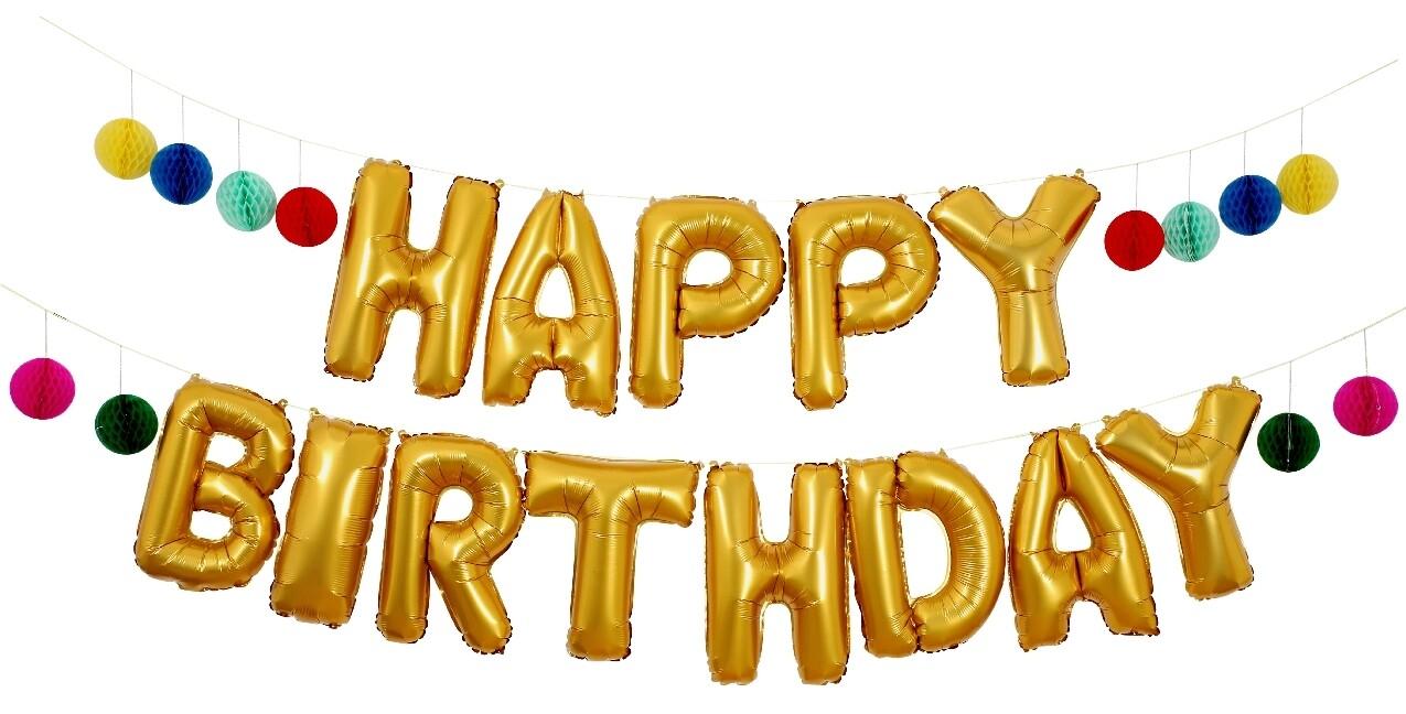 Meri Happy Birthday Balloon Girlanden Kit Als Sonstige Artikel
