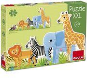 Goula Puzzle XXL Dschungel, von klein bis groß - 16 Teile