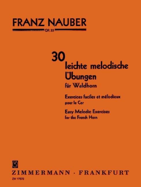 30 leichte melodische Übungen als Buch von Fran...