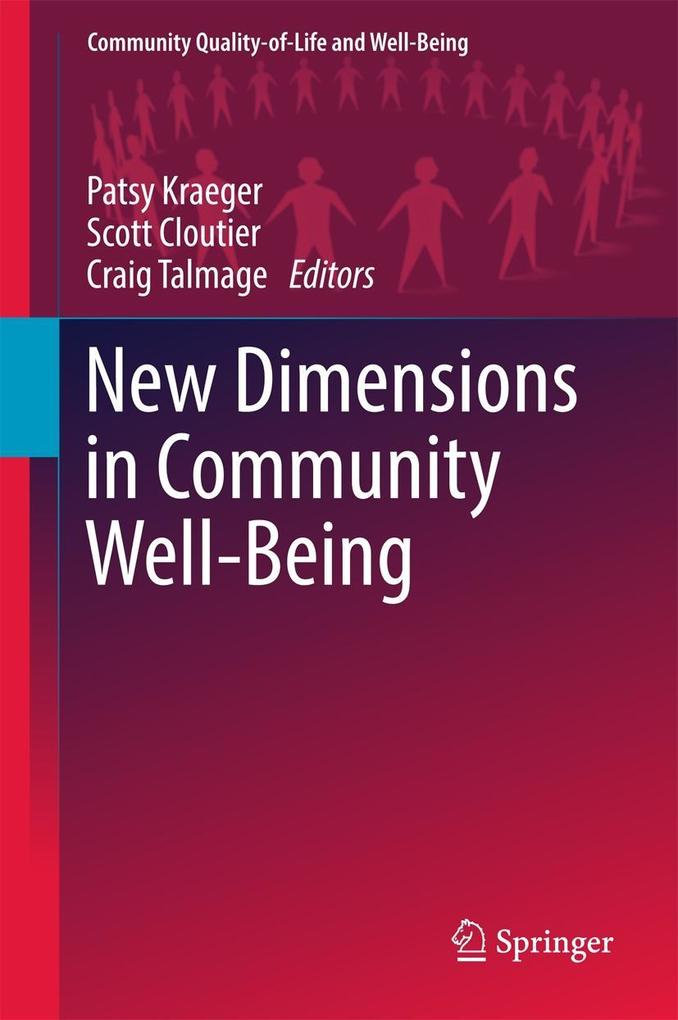 New Dimensions in Community Well-Being als eBoo...
