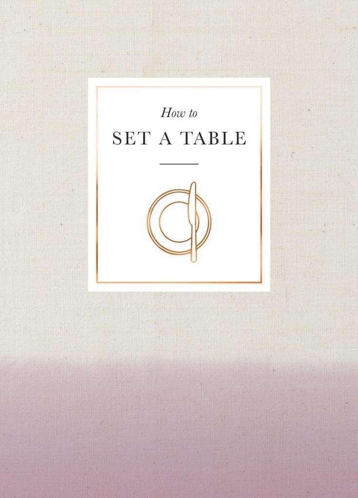 How to Set a Table als eBook Download von