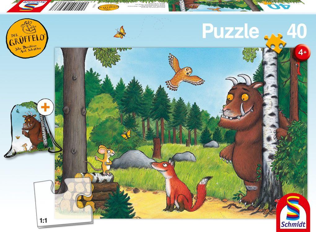 Der Grüffelo, 40 Teile - Kinderpuzzle mit Turnbeutel als sonstige Artikel