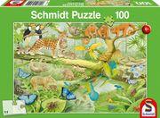 Tiere im Regenwald, 100 Teile - Kinderpuzzle