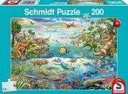 Entdecke die Dinosaurier, 200 Teile - Kinderpuzzle